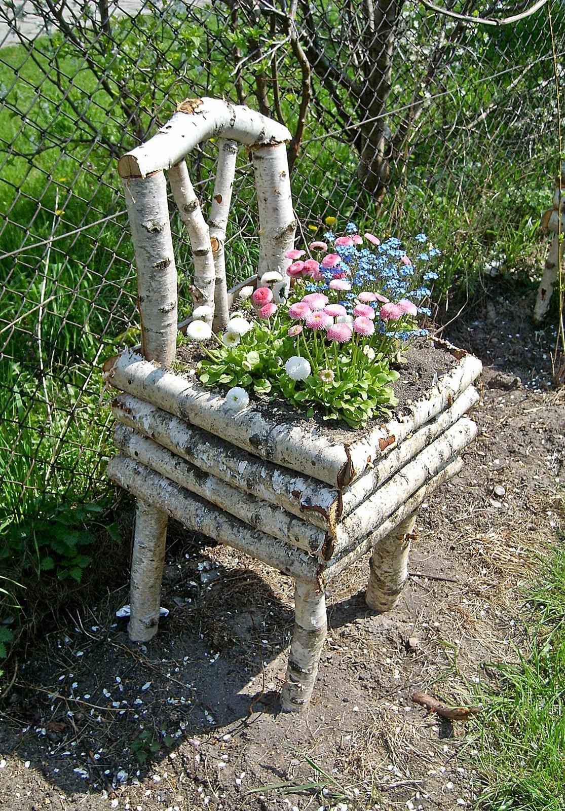 Wyplatanki Krzesełko Doniczka I Inne Ogrodowe Dziwy