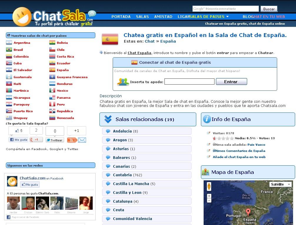 La Descarga Del Dia: ChatSala: Excelente sitio de Chat