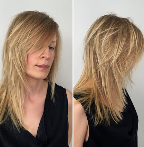 Gaya Rambut Panjang Sederhana dan Acak