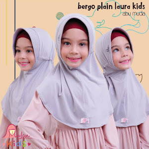 Jilbab Bergo Anak Miulan Kids baby grey