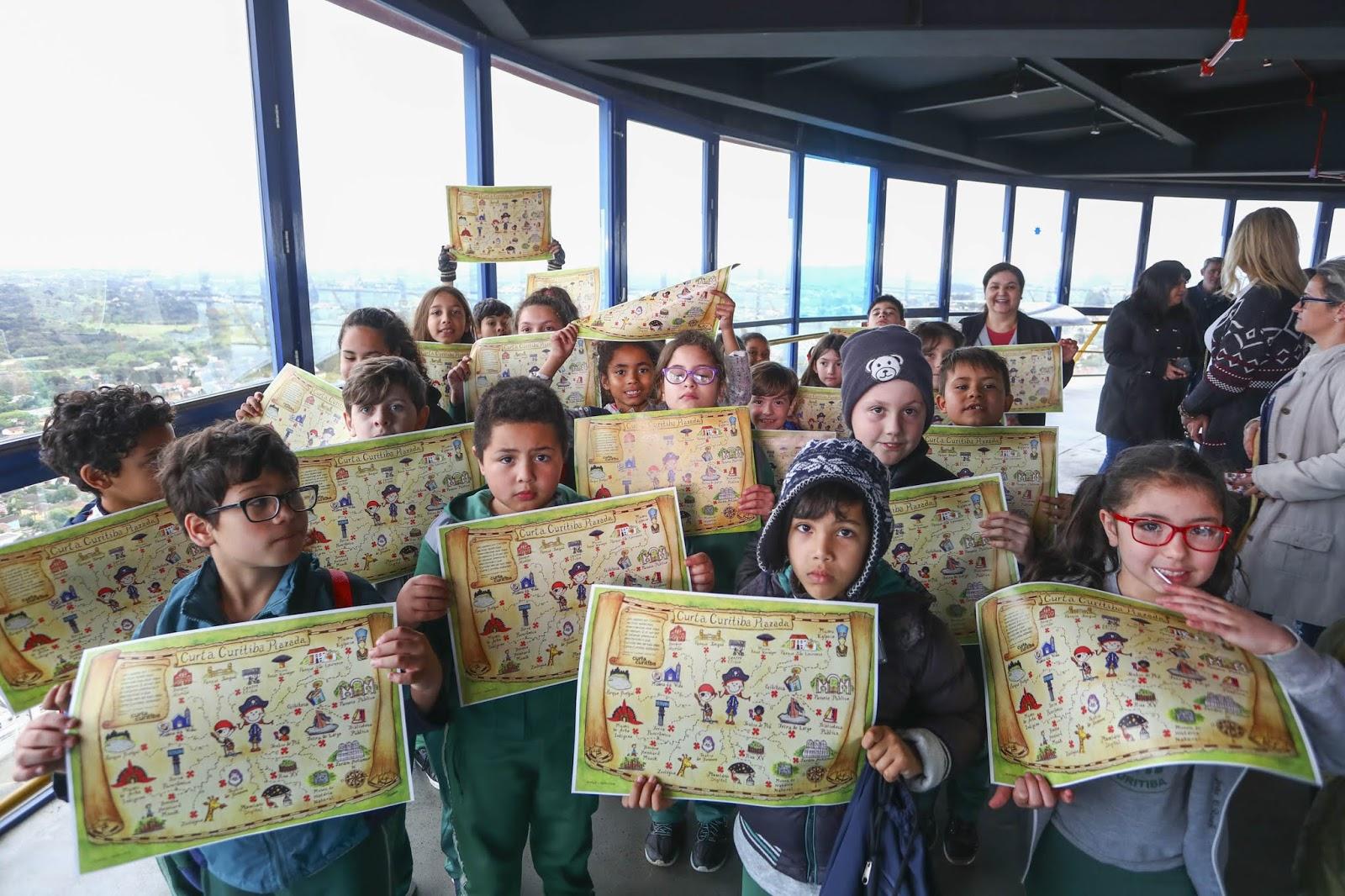 Curitiba tem mapa turístico para crianças