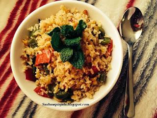 Spicy Capsicum Rice