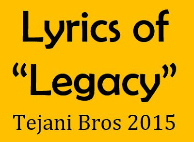 legacy noha lyrics of tejani brothers