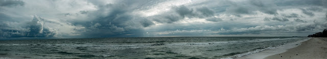 Clouds Ocean Sand HD Wallpaper