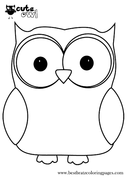 Cute Owl Coloring Pages  Bratz Coloring Pages