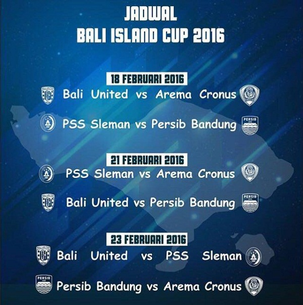 Jadwal Bali Island Cup 2016