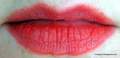 Revlon Colorburst Matte Balm in Striking after 1 hour and a cup of tea: BLECH!