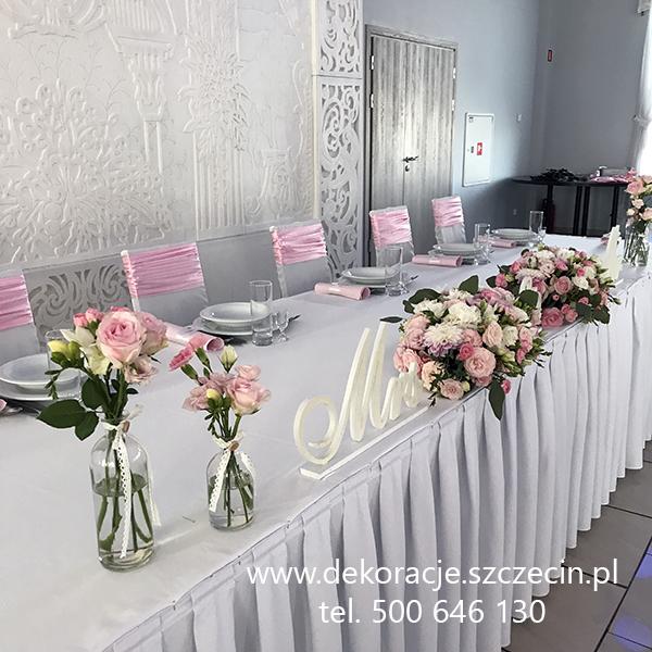 dekoracja ślubna Salvador Pyrzyce róż pudrowy