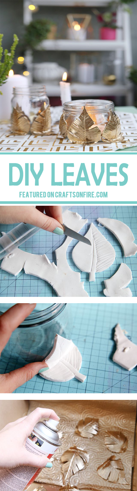 DIY, DIY Crafts, Diy Leaves, Diy Clay, Clay, Clay Leaves, Polymer Clay, Diy Tutorials, Clay Tutorials, Diy Home Decor, Decorations