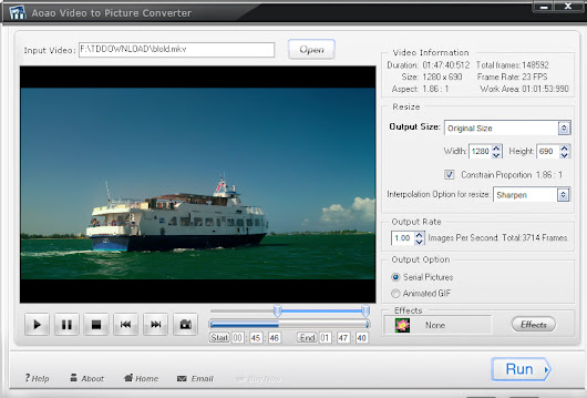 Review and Giveaway : Aoao Video to Picture Converter ~ Pc Tips and Tweaks