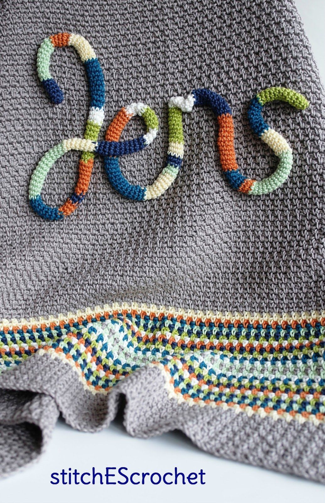 Stitches Crochet Personalized Baby Blanket For Jens Free Pattern