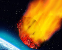 Bir meteorun atmosfere girerken yanması