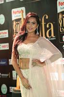 Prajna Actress in backless Cream Choli and transparent saree at IIFA Utsavam Awards 2017 0136.JPG