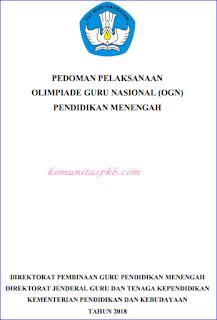 Pedoman Olimpiade Guru Nasional (OGN) Dikmen Tahun 2018