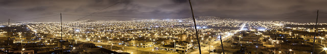 Is the largest slum in Peru with a population of 400,000 people