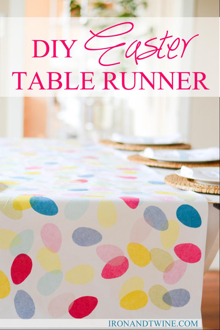 diy easter table runner the handmade home. Black Bedroom Furniture Sets. Home Design Ideas