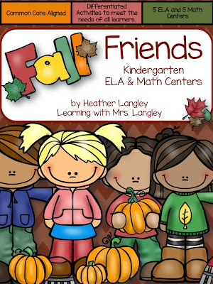 http://www.teacherspayteachers.com/Product/Fall-Friends-Kindergarten-Centers-1496720