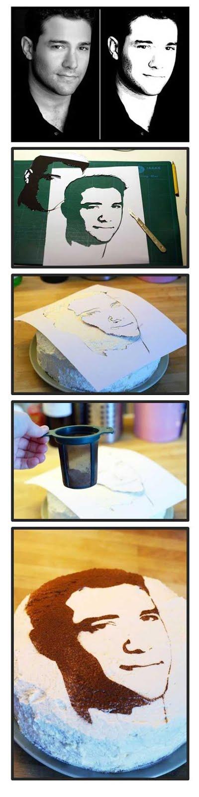 как сделать портрет на торте