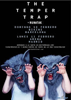 Conciertos de Nunatak y The Temper Trap en Madrid y Barcelona
