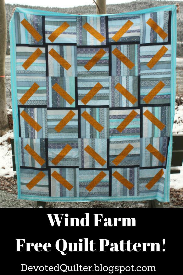 Wind Farm Quilt Pattern | DevotedQuilter.blogspot.com