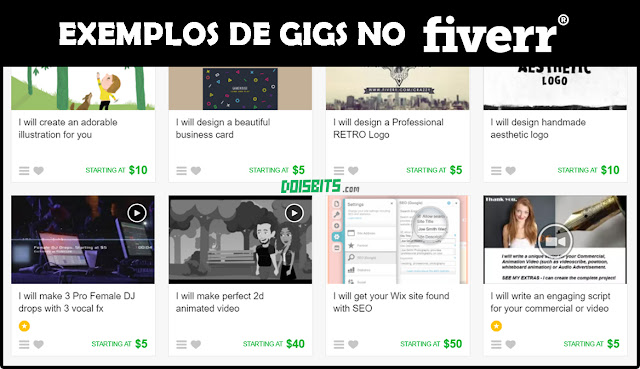 Sites para freelancer - Gigs no Fiverr