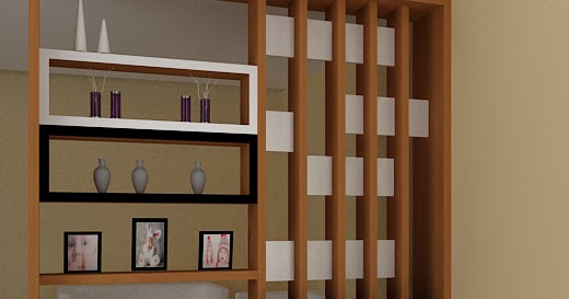 Kitchenset Pelangi Desain Interior: Partisi Ruang Tamu ...