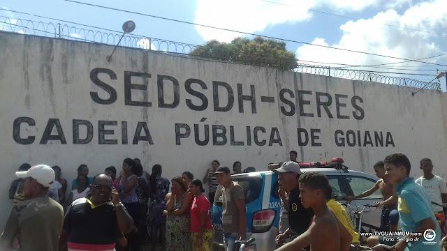 Inicio de rebelião na cadeia pública de Goiana