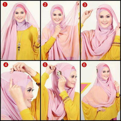 Tutorial Hijab Syar'i Pesta