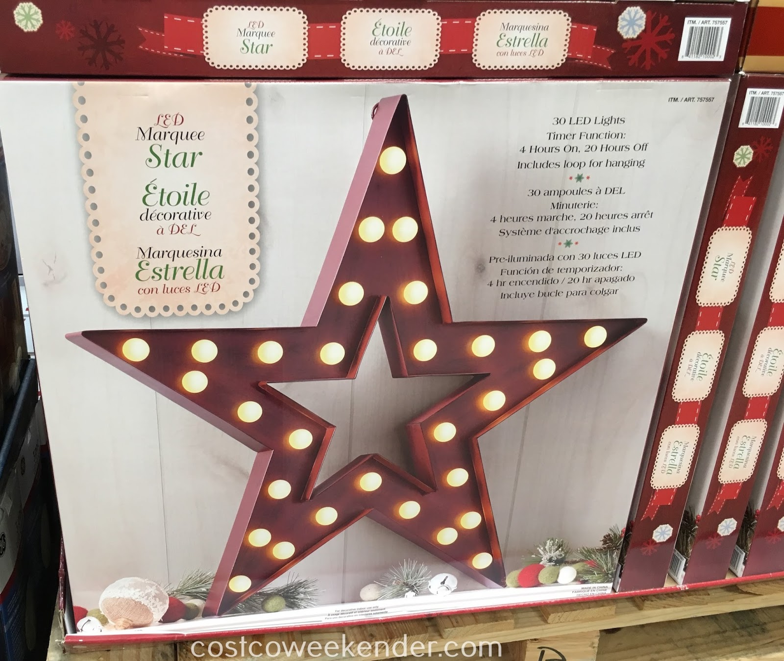 Make your home that much more stylish and bright with the LED Marquee Star