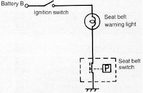 Circuit Diagram for Typical Seat Belt Warning Light
