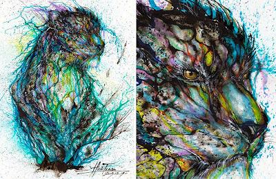 Pintura con salpicaduras de leopardo