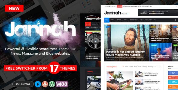 تحميل قالب ووردبريس عربي إخباري تقني احترافي Jannah v1.1.1 مجاناً