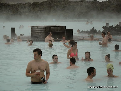 hanging at Blue Lagoon in Iceland