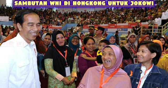 MERIAHNYA Sambutan WNI Di Hongkong Untuk Presiden Jokowi