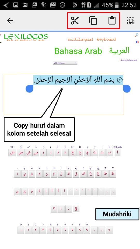 Menulis Arab Online : menulis, online, Menulis, Huruf, Berharakat, Android, Dengan, Benar