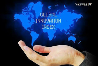 ग्लोबल इनोवेशन इंडेक्स (जीआईआई) की सूची में भारत 57वें नंबर पर है, पिछले साल भारत 60वें नंबर पर था। भारत की स्थिति में लगातार सुधार आ रहा है. वर्ष 2015 में यह 81वें स्थान पर था। चीन विश्व के शीर्ष 20 सर्वाधिक नवोन्मेषी अर्थव्यवस्थाओं में शामिल हो गया है। यह सालाना रैकिंग कॉर्नेल विश्वविद्यालय, आईएनएसईएडी और विश्व बौद्धिक संपदा संगठन (डब्ल्यूआईपीओ) द्वारा 10 जुलाई 2018 को प्रकाशित की गई। मुख्य तथ्य स्विटजरलैंड ग्लोबल इनोवेशन इंडेक्स (जीआईआई) में शीर्ष स्थान पर बरकरार है। मध्य और दक्षिण एशिया क्षेत्र में भारत शीर्ष पर है. जबकि दुनिया भर की रैकिंग में भारत 57वें स्थान पर है। भारत ने कई महत्वपूर्ण सूचकांकों की रैंकिंग में सुधार किया है। उत्पादकता वृद्धि और सूचना एवं संचार प्रौद्योगिकी और सेवाओं के निर्यात क्षेत्र में भी उसने रैकिंग सुधारी है। पिछले साल (वर्ष 2017) की रैकिंग में भारत और तीन स्थान नीचे 60 पर था। मध्य और दक्षिण एशिया में भारत के बाद दूसरे स्थान पर ईरान और तीसरे स्थान पर कजाकिस्तान है। जीआईआई 2018 के शीर्ष 10 देशों में स्विटजरलैंड के बाद नीदरलैंड, स्वीडन, ब्रिटेन, सिंगापुर, अमेरिका, फिनलैंड, डेनमार्क, जर्मनी और आयरलैंड शामिल हैं। ग्लोबल इनोवेशन इंडेक्स में शीर्ष 5 देश 1. स्विट्जरलैंड, 2. नीदरलैंड, 3. स्वीडन. 4. यूनाइटेड किंगडम 5. सिंगापुर ग्लोबल इनोवेशन इंडेक्स (जीआईआई) ➤ जीआईआई में 80 संकेतकों पर 126 अर्थव्यवस्थाओं की रैंकिंग की गई, जिसमें बौद्धिक संपदा फाइलिंग दर से लेकर मोबाइल एप्लिकेशन निर्माण, शिक्षा खर्च और वैज्ञानिक और तकनीकी प्रकाशनों तक को शामिल किया गया। ➤ चीन इस साल (वर्ष 2018) इस रैकिंग में 17वें स्थान पर रहा, जोकि उसकी अर्थव्यवस्था की सफलता दर्शाती है। वहां की सरकार की नीतियों में शोध और विकास पर विशेष जोर दिया जा रहा है। ➤ जीआईआई इंडेक्स के अनुसार मध्य और दक्षिण एशिया क्षेत्र में भारत सबसे इनोवेटिव देश है।