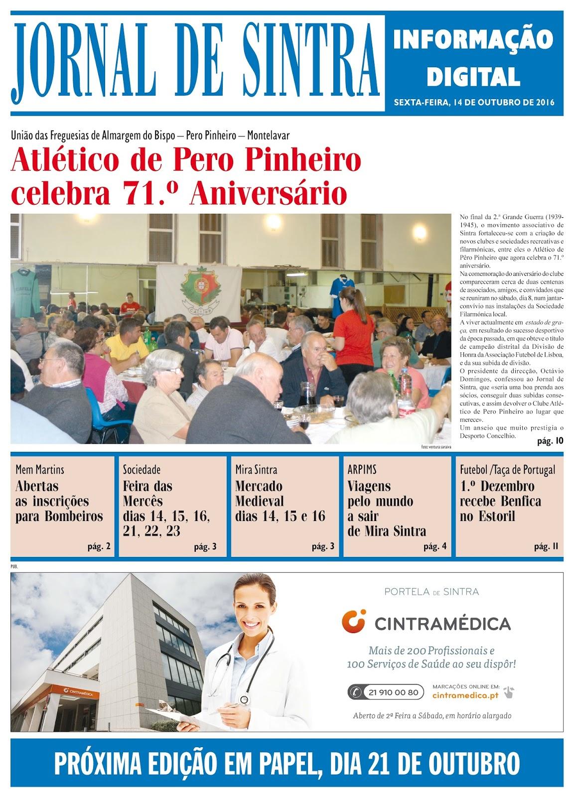 Capa da edição de 14-10-2016