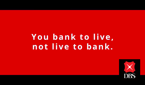 You bank to live, not live to bank.