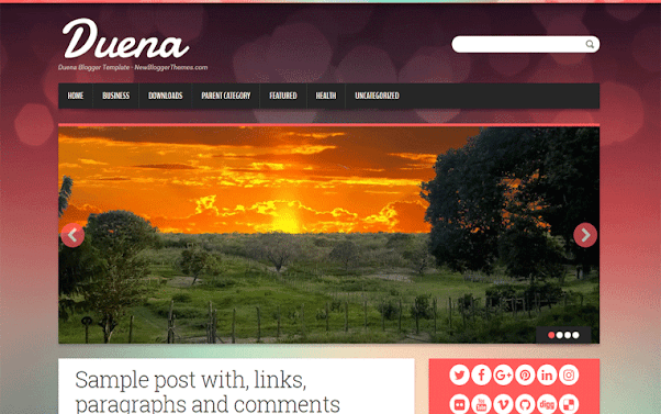Duena Free Blogger Template