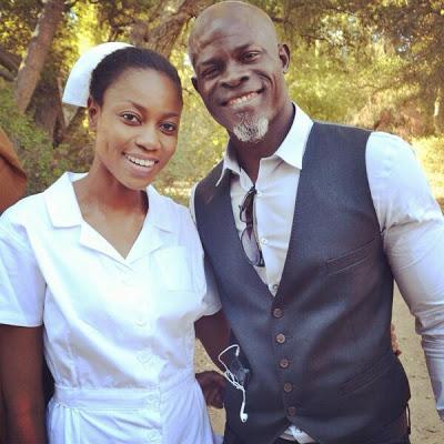 yvonne nelson and Djimon Hounsou