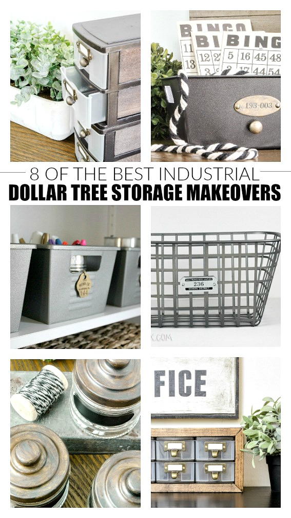 8 of the best industrial Dollar Tree storage makeovers