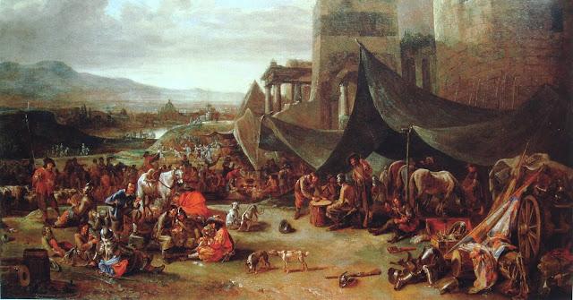 Saque de Rome em 1527 por Johannes Lingelbach