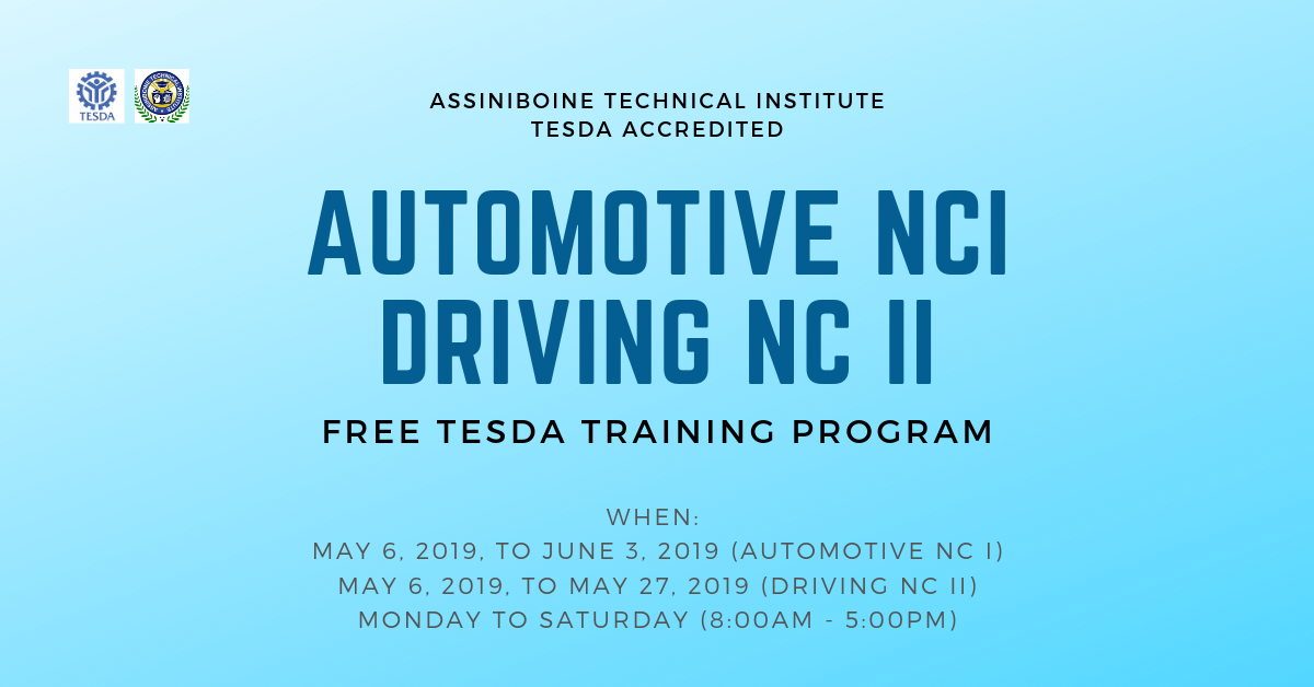 Driving NC II & Automotive NC I (TESDA TRAINING)