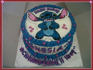 kue ulang tahun stitch