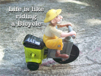 life is like riding a bike