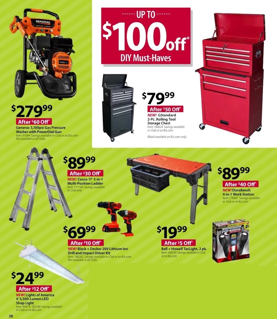 BJ's Wholesale Black Friday tools 2018 ad