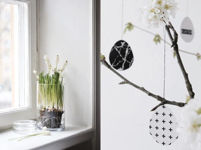 scandinavian easter inspiration, nordic easter, neutral easter decoration, diy easter eggs, scandinavian interior via http://www.scandinavianlovesong.com/