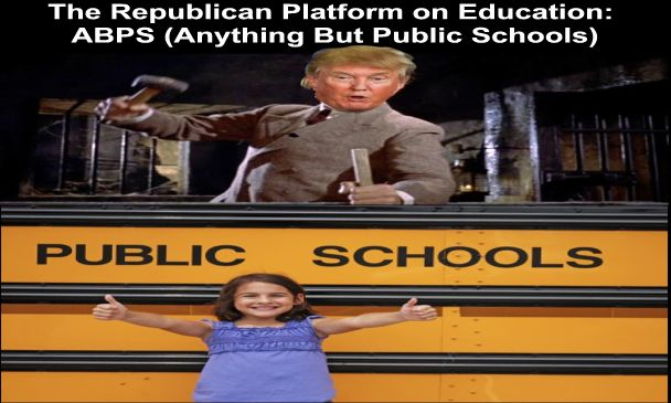 Image result for big education ape Trump's school choice