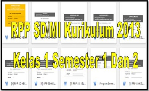 Download RPP SD/MI Kurikulum 2013 Kelas 1 Semester 1 Dan 2