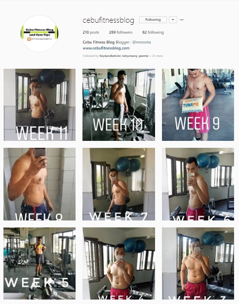 Cebu Fitness Blog Instagram